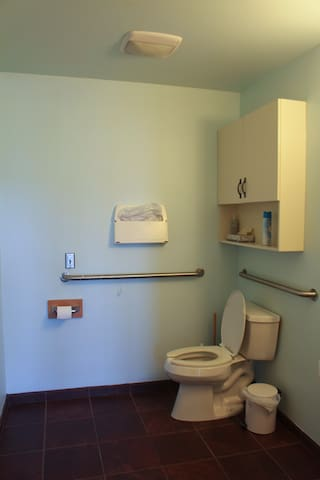 Half bathroom area. No shower at this time.
