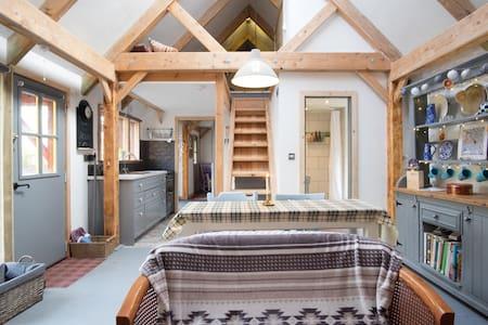 Eco-renovated stone barn