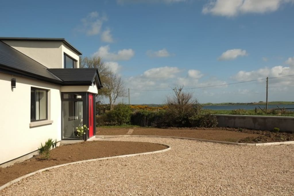 Front of Beach Cottage, overlooking beautiful views of Strangford Lough