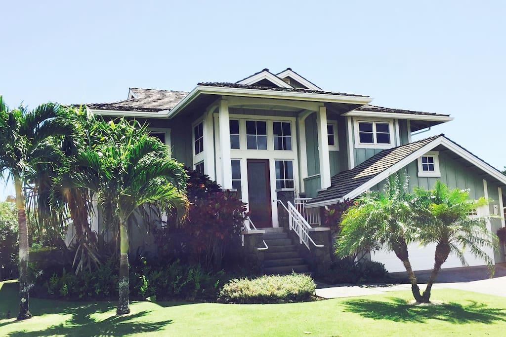 Hale Nene Poipu: a luxury home on the Kiahuna Golf Course, 1.25 miles from Poipu Beach, restaurants and amenities.