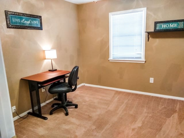 As a bonus, there is an office. The home has high-speed wifi.
