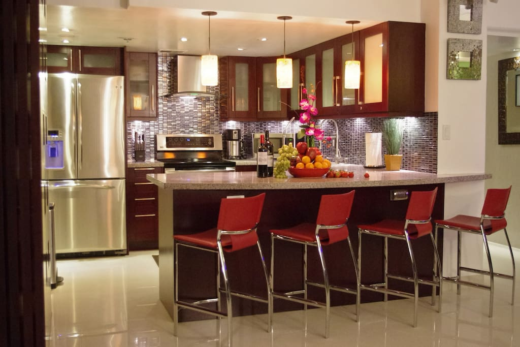 Your lavish kitchen and dining area