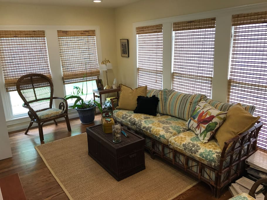 Bright and cheery sunroom