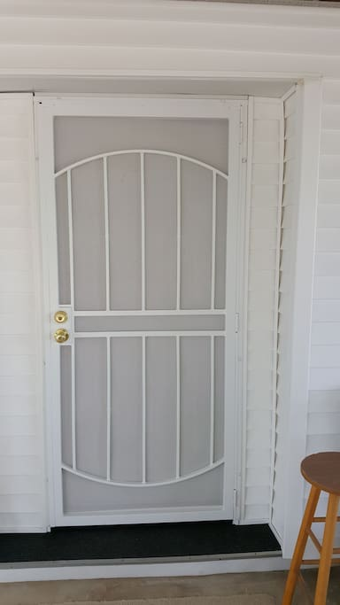 Private Guest front door entrance.