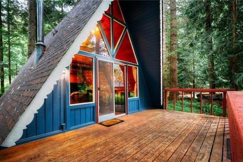 The Little Blu A-frame at Mt. Rainier