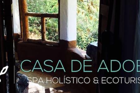 Cabaña de Adobe con balcónvista al Río - Marfil