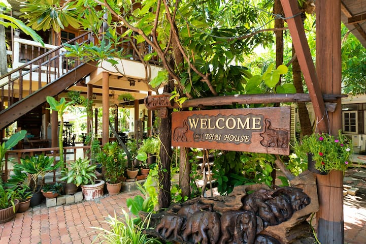 When you arrive at the Thai House, the first thing you will notice is its green surroundings.