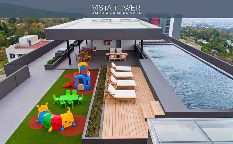 vista Tower, Escalón, piscina, vista ciudad
