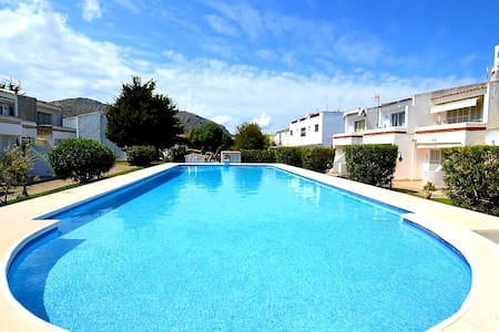 GROUND FLOOR (pool, WIFI, BBQ, AC) near the BEACH