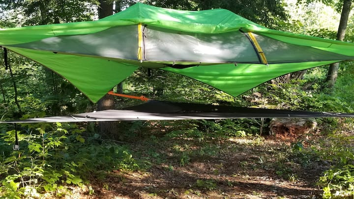 Tree Tent Camping on the Tooky River at Sweetwater
