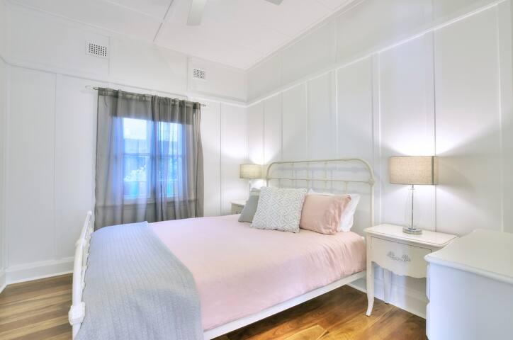 Vintage inspired queen bedroom