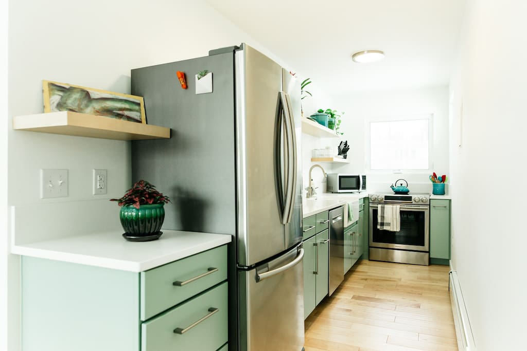 Full sized galley kitchen