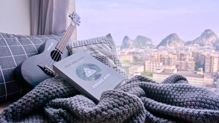 【你好旅行】高层山景公寓,南溪山漓江一眼瞬间,附近桂林站/两江四湖/象山公园。