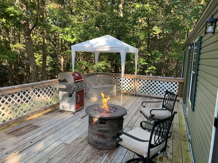 Fall weather is here.  Come and relax by the fire.