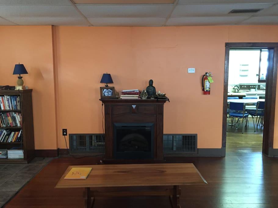 the surprsingly cozy electric fireplace