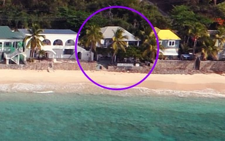 Big Apple Down - Beach front - Tortola - บ้าน