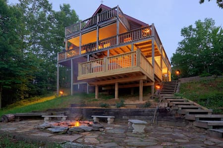 Carter's Lake Getaway has a gorgeous view of both the lake and mountains. Hot tub too!!
