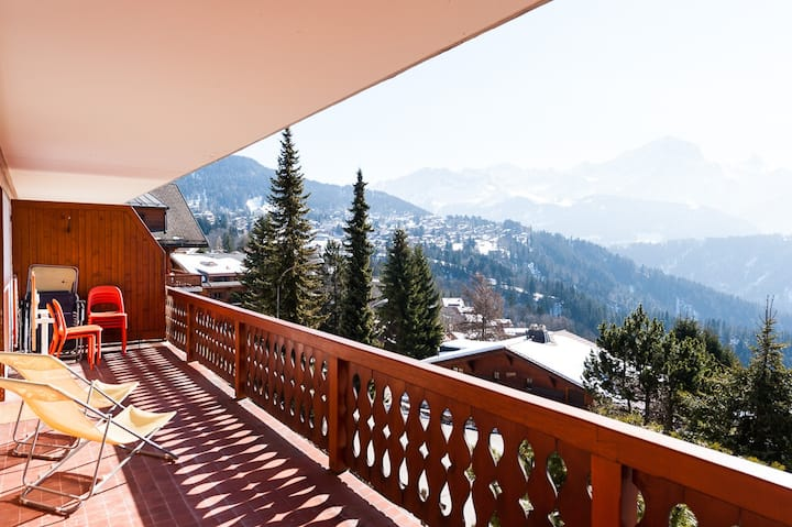 Villars Chalet with a view.