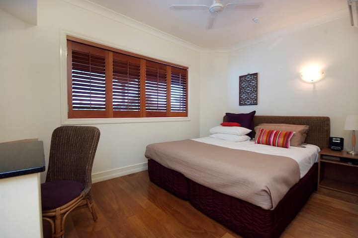The second bedroom can be made up as a queen bed or