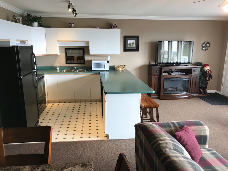 kitchen with upgraded appliances