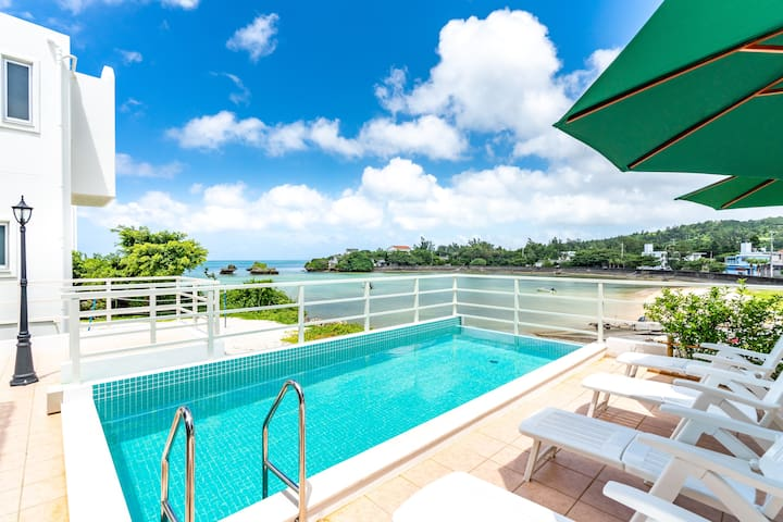 0min to sea! Rent entire luxe villa with pool!