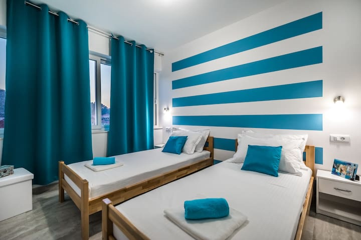 Apartments Sunshine Home - Twin Room ( Blue )