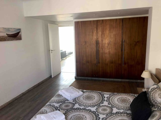 1 bedroom with new floor