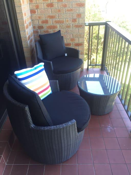 Balcony setting