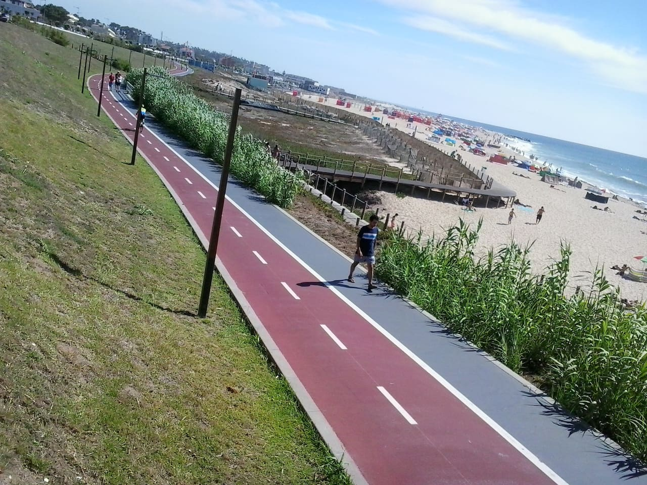 cycle way along beach in front of  appartment