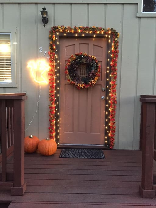 The front door in the fall is a favorite.