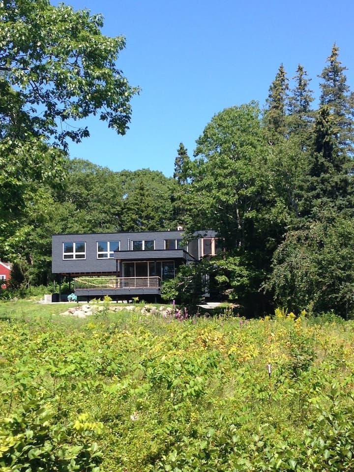 Modern house in Sorrento, Maine.