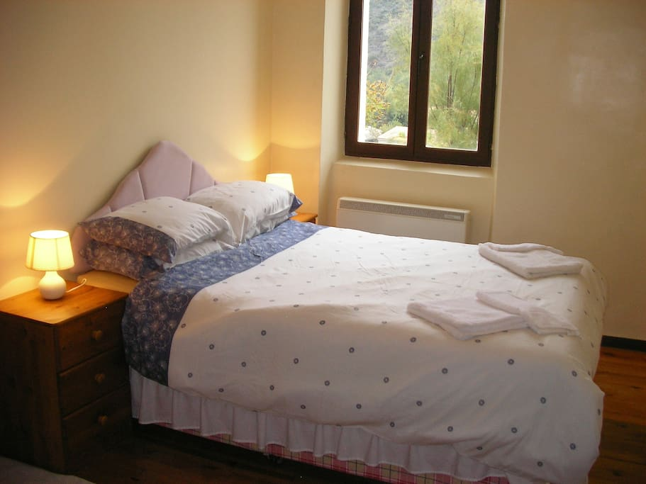 The main bedroom - double bed.