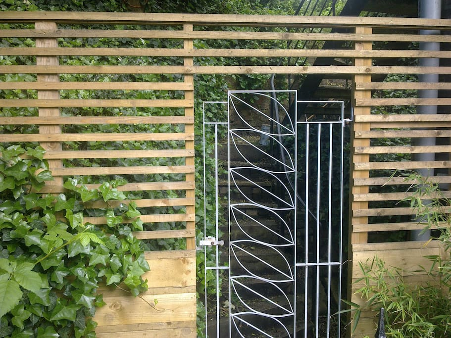 Entrance to fully enclosed private garden