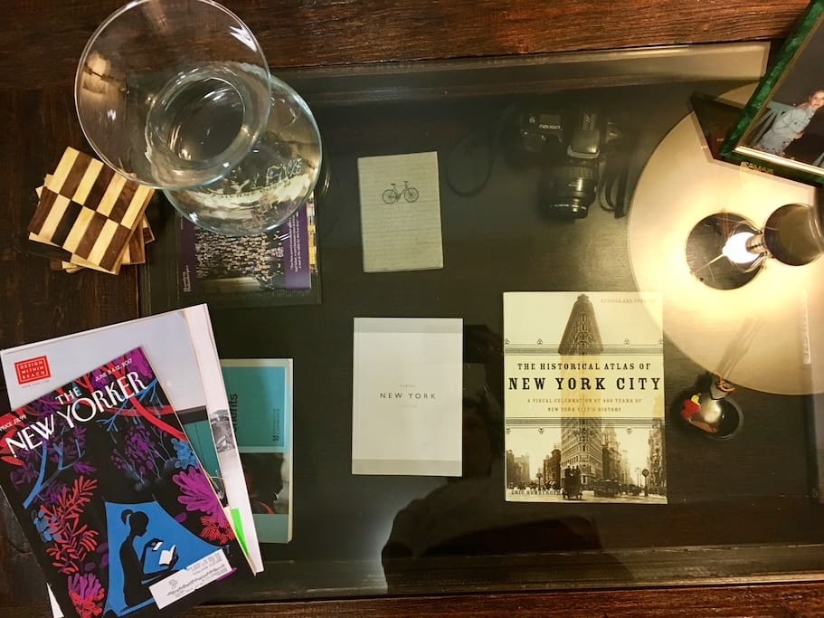 Plenty of New York guidebooks, restaurant guides, magazines, and other interesting reads available for your enjoyment and convenience