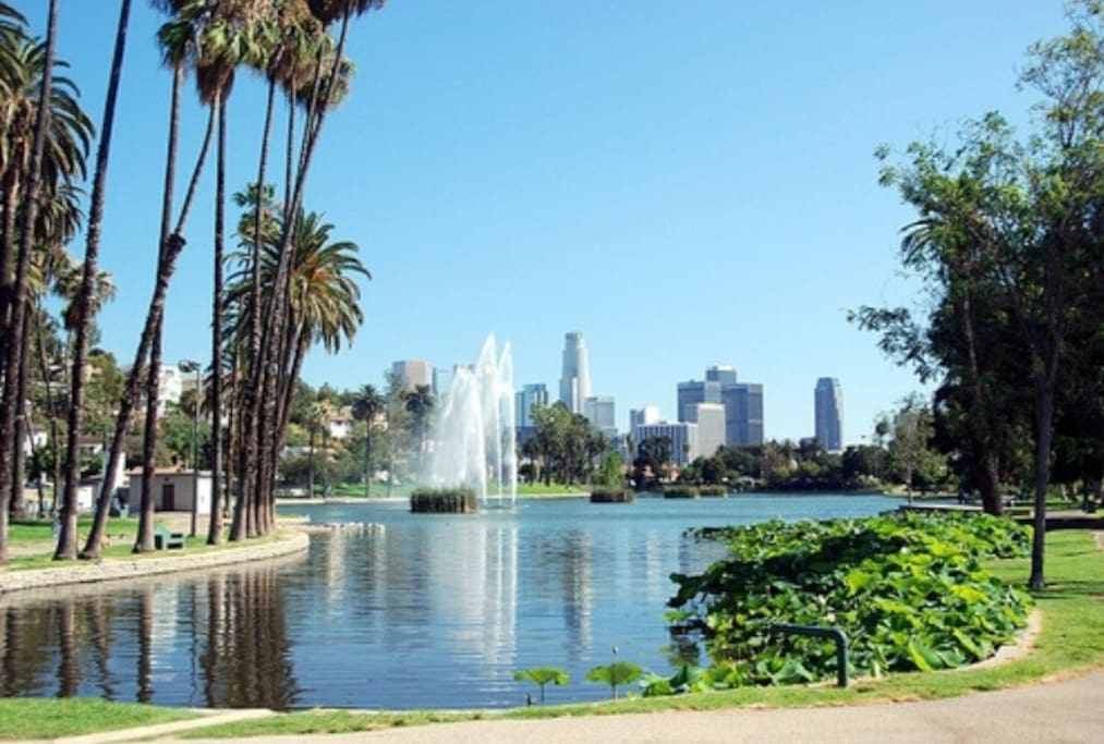 Echo Park Lake, 2 min walking from the house