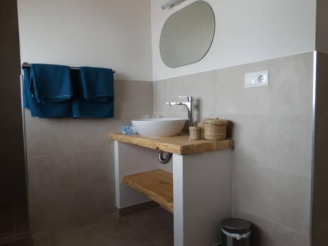 Badkamer bij gastenkamer