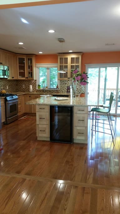 Professional Chef's Kitchen With Wine Cooler, Island For Entrainment