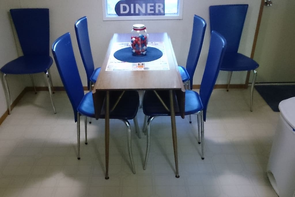 Seats six in the kitchen