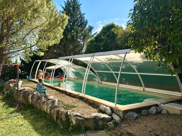 Villa avec piscine en Cevennes proche d'Anduze