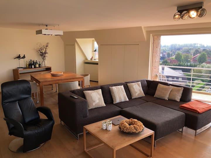 Groot luxueus appartement (2 slp & 2 badkamers)