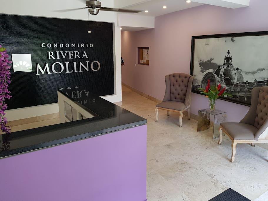 Entrance of Condominio Rivera Molino