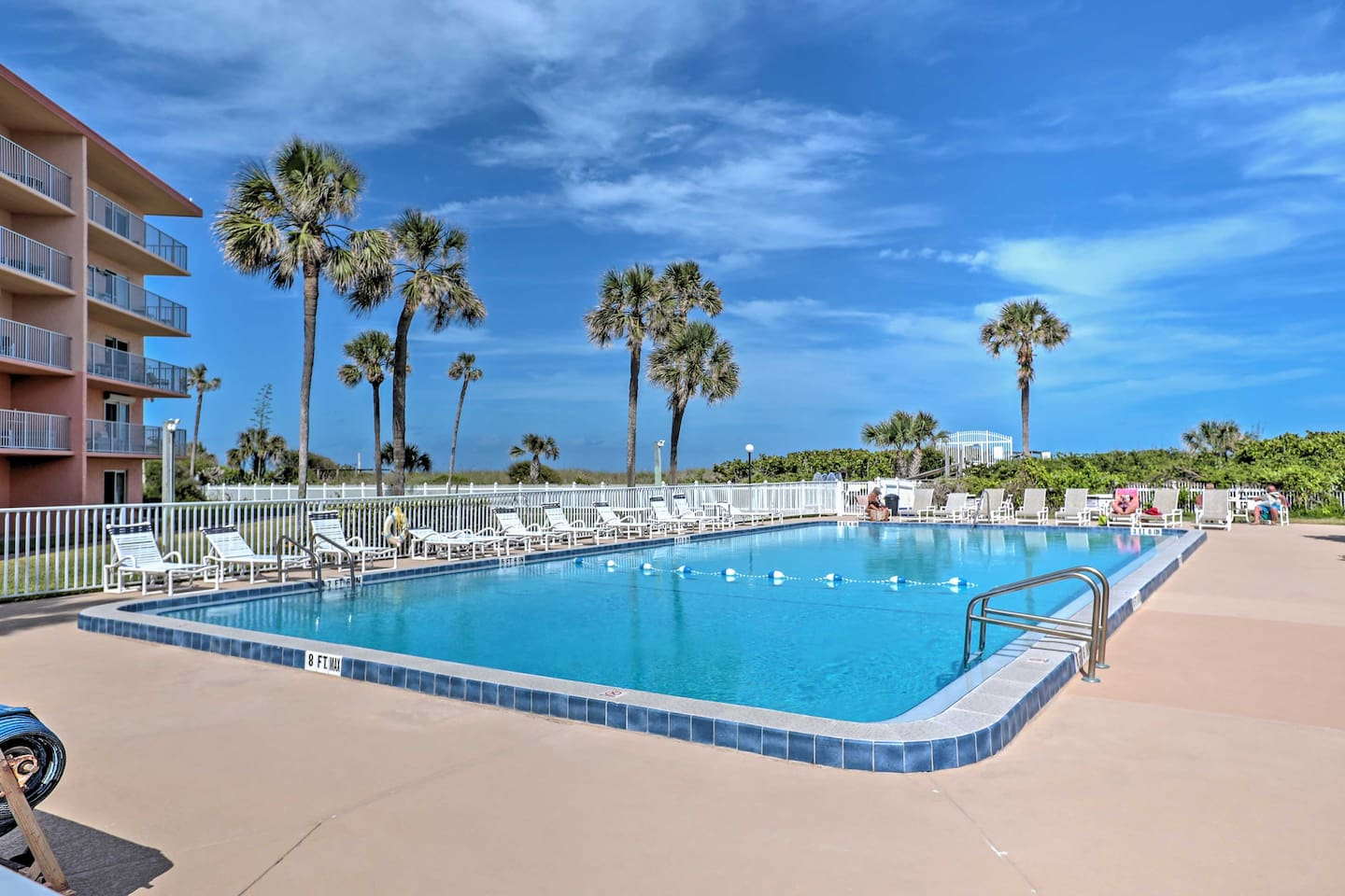 Spend days lounging poolside when you stay at this Cocoa Beach vacation rental.