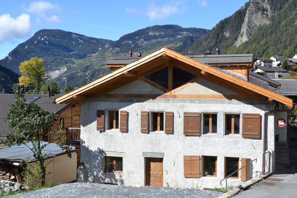 Swiss ski chalet, Le Chable/Verbier