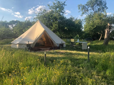 Bell Tents in Herefordshire - Both Tents!