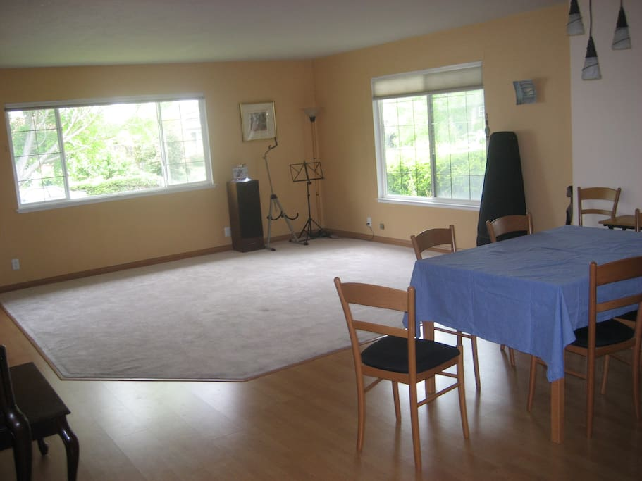 Dining Room and Living Room. Table expands for 10-12 people.