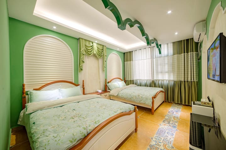 【Hansu Inn】Forest park/Chinese Tea/Twin bed room