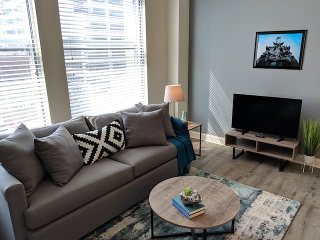 PRIME LOCATION! CHIC 1BR APT IN HEART OF DOWNTOWN