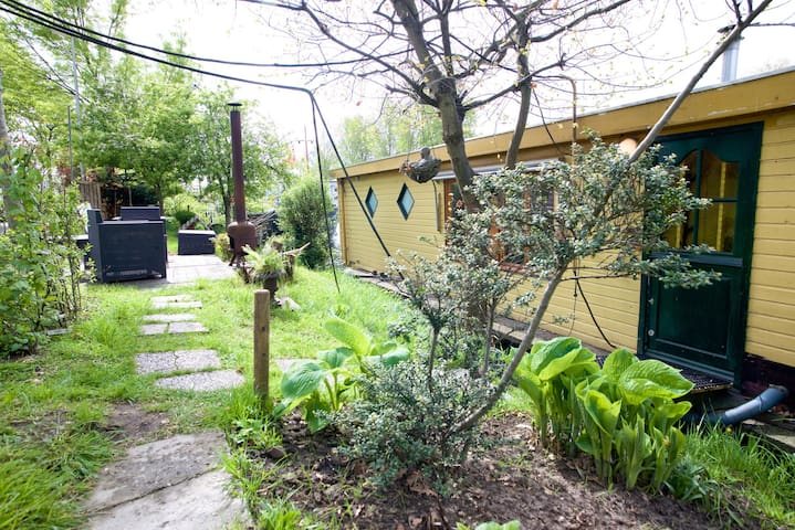 garden side, with outside fire place (free parking)