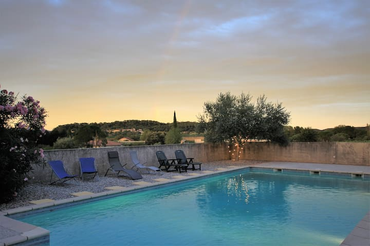 Les Hirondelles, villa with pool in the Cevennes