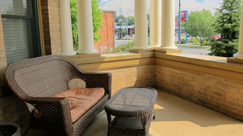 The Bab's communal front porch is made for observing the people pass by